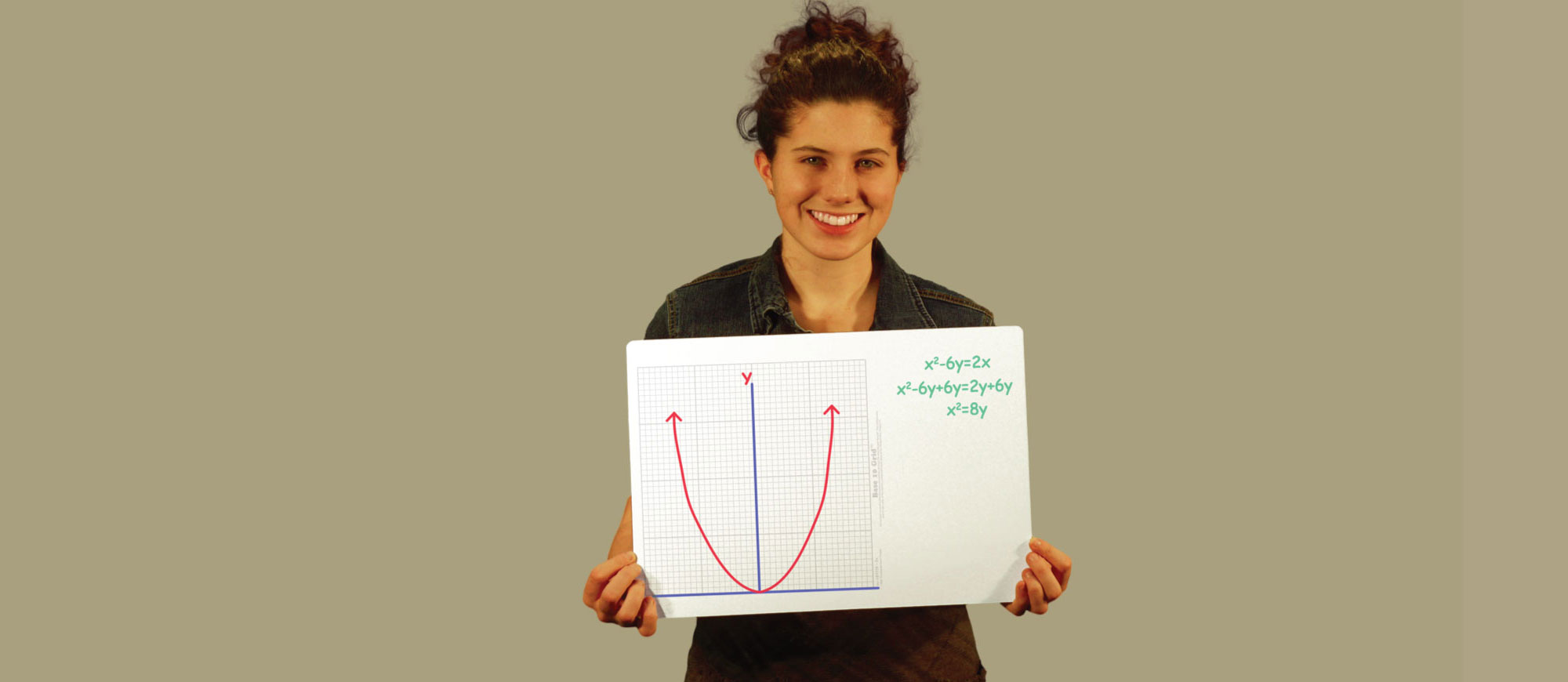Woman with X & Y Axis Parabola